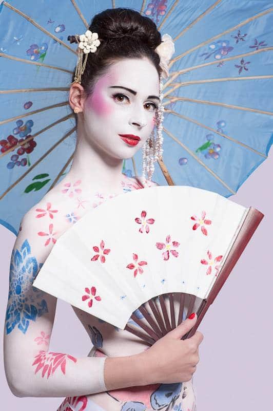 Bodyart Bodypainting Geisha