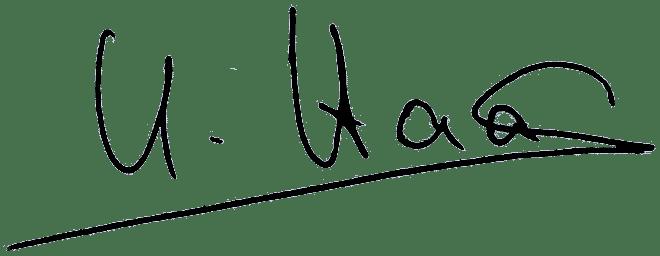 Unterschrift Ursula Haas